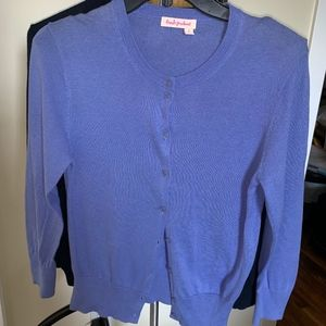 FRESH PRODUCE LAVENDER CARDIGAN SWEATER S